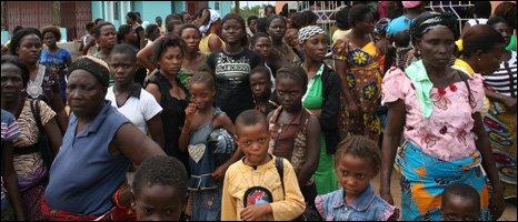 Warri rifugiati foto-bbc