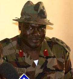 Il portavoce della JTF Colonnello Abubakar