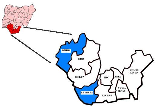 I nove Stati del delta del Niger