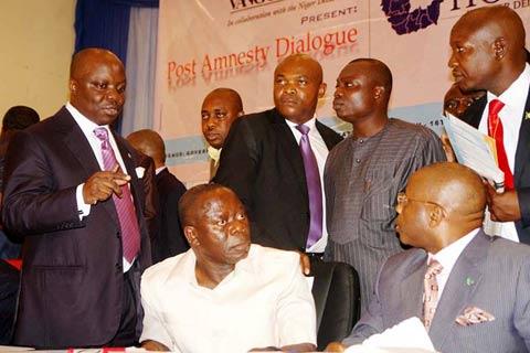 I Governatori, Emmanuel Uduaghan, Adams Oshiomhole e  Ikedi Ohakim alla Conferenza