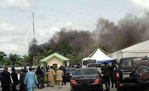 Foto delle esplosioni provocate dal Mend