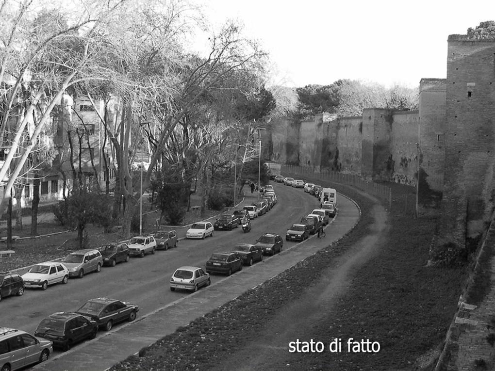 Viale Metronio, Mura Aureliane