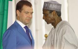Yar'Adua e Medvedev