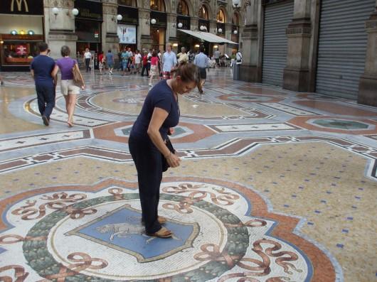 Simona alla Galleria di Milano