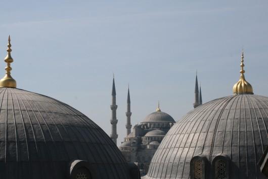 La Moschea Blu dall'alto di Aya Sofia